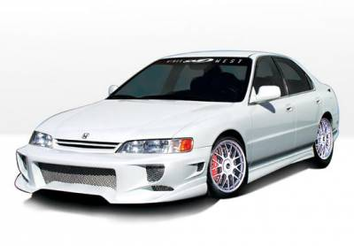Accord 4Dr - Side Skirts - VIS Racing - Honda Accord 4DR VIS Racing W-Type Left Side Skirt - 890149L