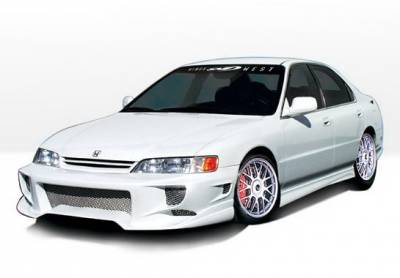 Accord 2Dr - Side Skirts - Wings West - Honda Accord 2DR Wings West W-Type Side Skirts - Left & Right - 890187L&R