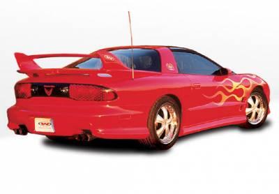 Firebird - Side Skirts - VIS Racing - Pontiac Firebird VIS Racing W-Type Side Skirts - Pair - 890190LR