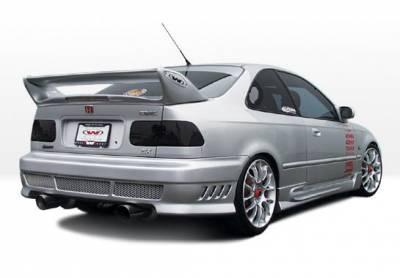 Civic 2Dr - Side Skirts - VIS Racing - Honda Civic 2DR & Hatchback VIS Racing W-Type Left Side Skirts - 890374L