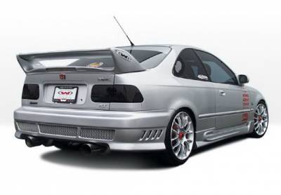 Civic 2Dr - Side Skirts - Wings West - Honda Civic 2DR & HB Wings West W-Type Side Skirts - Left & Right - 890374L&R