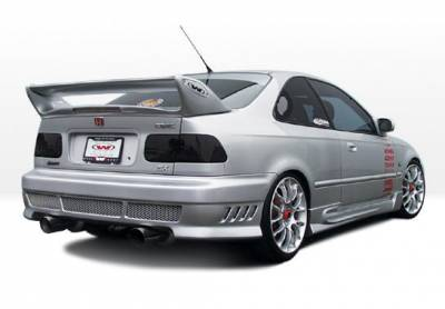 Civic 2Dr - Side Skirts - VIS Racing - Honda Civic 2DR & Hatchback VIS Racing W-Type Right Side Skirts - 890374R