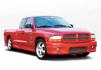 Dakota - Side Skirts - Wings West - Dodge Dakota Wings West W-Type Side Skirts - Left & Right Front - 890414L&R
