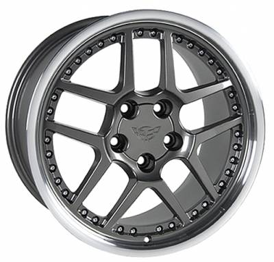 Wheels - GM 4 Wheel Package - Custom - Z06 Style Wheel Argent - GM 18 Inch 4 Wheel Package