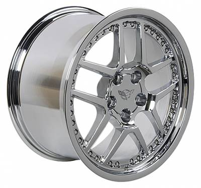 Wheels - GM 4 Wheel Package - Custom - Z06 Style Wheel Chrome - GM Staggered 4 Wheel Package