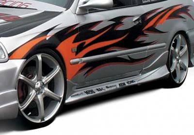 Civic 2Dr - Side Skirts - VIS Racing - Honda Civic 2DR & Hatchback VIS Racing Tuner Type 2 Left Side Skirt - 890422L