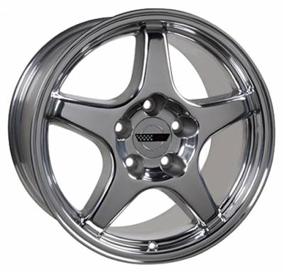 Wheels - GM 4 Wheel Package - Custom - ZR Style Wheel Polished - GM 17 Inch 4 Wheel Package