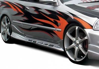 Civic 2Dr - Side Skirts - VIS Racing - Honda Civic 2DR & Hatchback VIS Racing Tuner Type 2 Right Side Skirt - 890422R