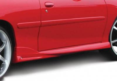 Cavalier 2Dr - Side Skirts - VIS Racing - Chevrolet Cavalier 2DR VIS Racing W-Type Left Side Skirt - 890437L