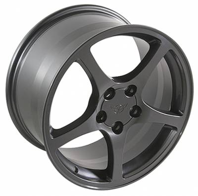 Wheels - GM 4 Wheel Package - Custom - C5 Style Wheel Gunmetal - GM 17 Inch 4 Wheel Package