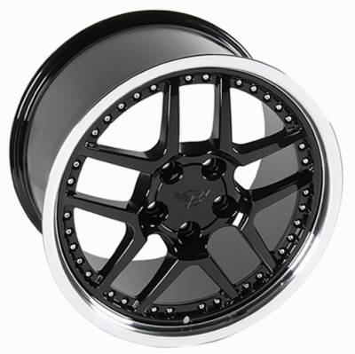 Wheels - GM 4 Wheel Package - Custom - Z06 Style Wheel Black - GM 17 Inch 4 Wheel Package