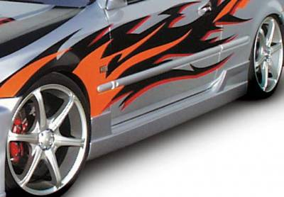 Civic 2Dr - Side Skirts - Wings West - Honda Civic 2DR & HB Wings West Tuner Type I Side Skirts - Left & Right - 890502L&R