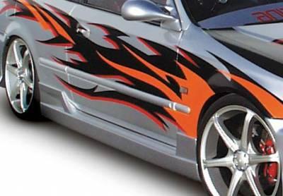Civic 2Dr - Side Skirts - VIS Racing - Honda Civic 2DR & Hatchback VIS Racing Tuner Type I Right Side Skirt - 890502R