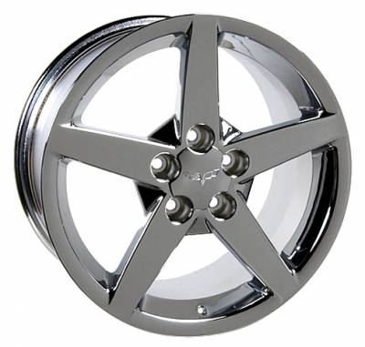 Wheels - GM 4 Wheel Package - Custom - C6 Style Wheel Chrome - GM Staggered 4 Wheel Package