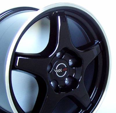 Wheels - GM 4 Wheel Package - Custom - ZR Style Wheel Black - GM 17 Inch 4 Wheel Package