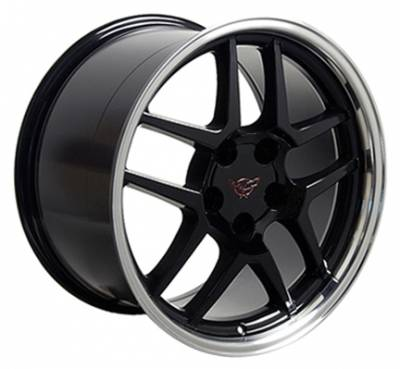 Wheels - GM 4 Wheel Package - Custom - Z06 C4 Wheel Black - GM 17 Inch 4 Wheel Package