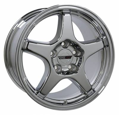 Wheels - GM 4 Wheel Package - Custom - ZR Style Wheel Chrome - GM 17 Inch 4 Wheel Package