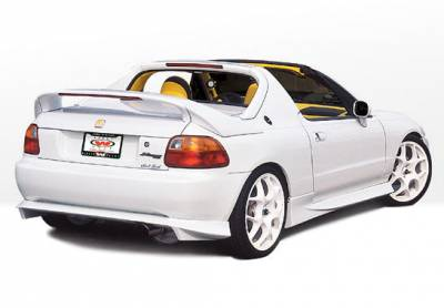 Del Sol - Side Skirts - VIS Racing - Honda Del Sol VIS Racing Racing Series Right Side Skirt - 890572R
