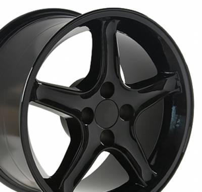 Wheels - Mustang Wheels - Custom - Cobra Style Wheel Black - Mustang 17 Inch 4 Wheel Package