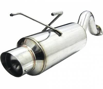 Exhaust - Mufflers - 4 Car Option - Honda Civic HB 4 Car Option Bolt-On Muffler with Stainless Steel Tip - MUB-HC963
