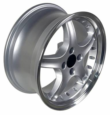 Wheels - Mustang Wheels - Custom - Cobra Style Wheel Silver - Mustang 17 Inch 4 Wheel Package