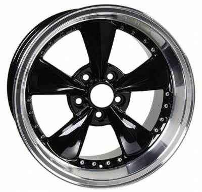 Wheels - Mustang Wheels - Custom - Bullet Black Style Wheel - Mustang 17 Inch 4 Wheel Package