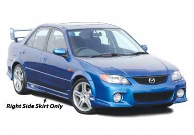 Protege - Side Skirts - VIS Racing - Mazda Protege VIS Racing MPS Right Side Skirt - 890662R