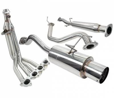 Exhaust - Custom Fit Exhaust - 4 Car Option - Acura Integra 4 Car Option Cat-Back Exhaust System with Header - MUX2-AI94LS