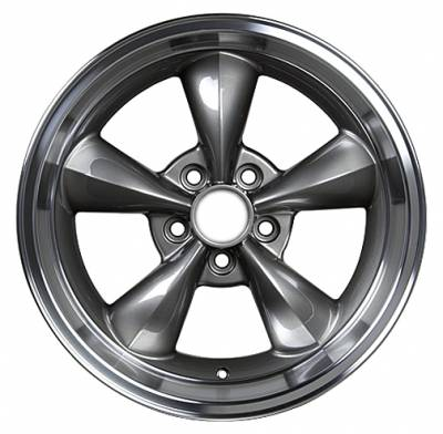 Wheels - Mustang Wheels - Custom - Bullet Style Wheel Argent - Mustang 17 Inch 4 Wheel Package
