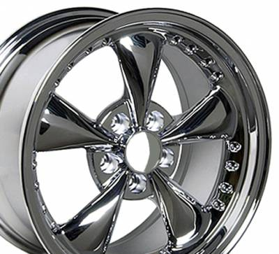 Wheels - Mustang Wheels - Custom - Bullet Style Wheel Chrome - Mustang 17 Inch 4 Wheel Package