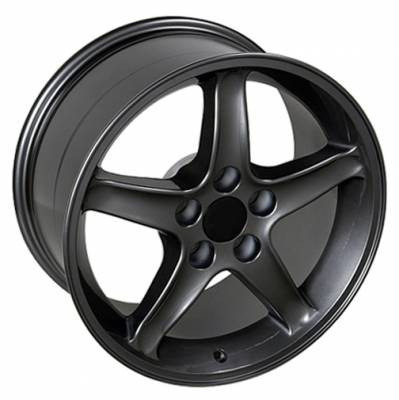 Wheels - Mustang Wheels - Custom - Cobra R Style Wheel Gunmetal - Mustang 17 Inch 4 Wheel Package