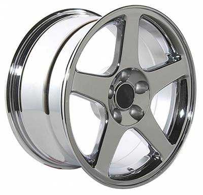 Wheels - Mustang Wheels - Custom - Cobra Style Wheel Chrome - Mustang 17 Inch 4 Wheel Package