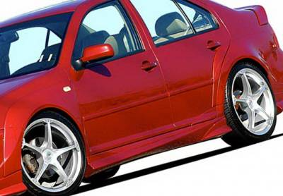 Jetta - Side Skirts - Wings West - Volkswagen Jetta Wings West J-Spec Side Skirts - Left & Right - 890762L&R