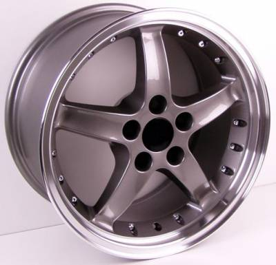 Wheels - Mustang Wheels - Custom - Cobra Style Wheel Gunmetal - Mustang 17 Inch 4 Wheel Package