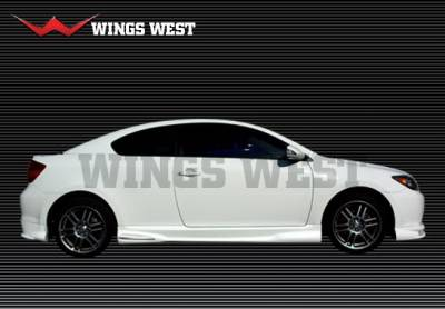 TC - Side Skirts - Wings West - Scion tC Wings West A-Spec Side Skirts - Left & Right - 890863L&R