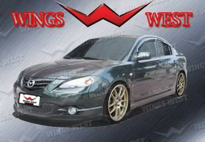 3 4Dr HB - Side Skirts - Wings West - Mazda 3 Wings West VIP Side Skirts - Left & Right - 890925L&R