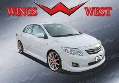 Corolla - Side Skirts - Wings West - Toyota Corolla Wings West W-Type Side Skirts - Left & Right - 890937L&R