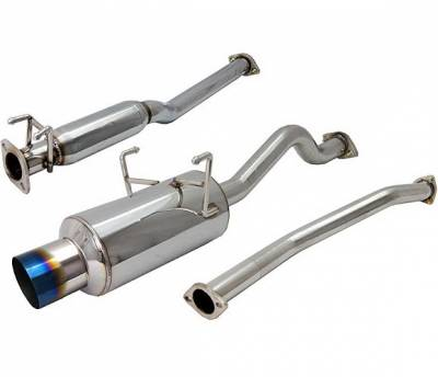 Exhaust - Custom Fit Exhaust - 4 Car Option - Honda Civic 2DR & 4DR 4 Car Option Cat-Back Exhaust System with Titanium Tip - MUX-HC01-TT