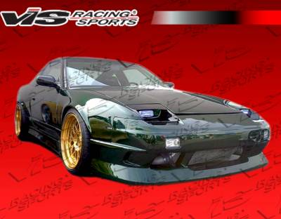240SX - Side Skirts - VIS Racing - Nissan 240SX VIS Racing JPC Type 1 Side Skirts - 89NS2402DJPC1-004