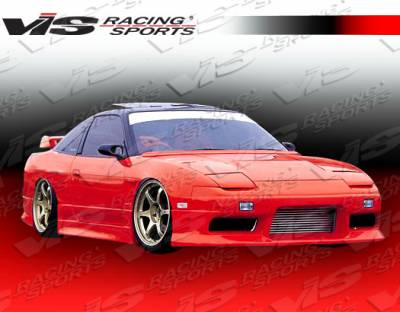 240SX - Side Skirts - VIS Racing - Nissan 240SX VIS Racing M Speed-2 Side Skirts - 89NS2402DMSP2-004