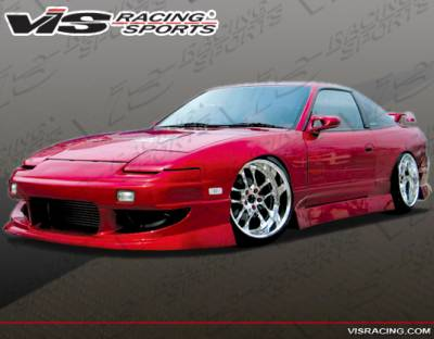 240SX - Side Skirts - VIS Racing - Nissan 240SX VIS Racing Werk 9 Side Skirts - 89NS2402DWK9-004