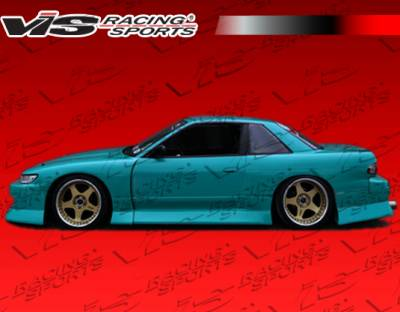 S13 - Side Skirts - VIS Racing. - Nissan S13 VIS Racing B Speed Widebody Side Skirts - 89NSS132DBSPWB-004