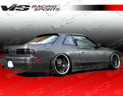 S13 - Side Skirts - VIS Racing - Nissan S13 VIS Racing Flex Side Skirts - 89NSS132DFLX-004