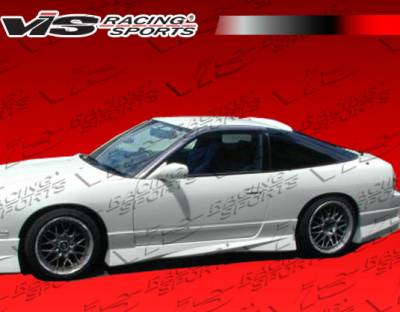 S13 - Side Skirts - VIS Racing - Nissan S13 VIS Racing V Spec S Side Skirts - 89NSS132DVSCS-004