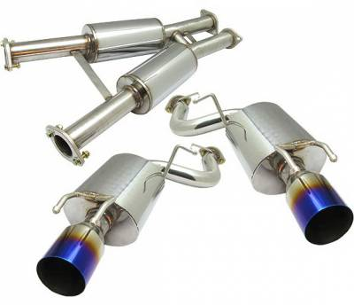 Exhaust - Custom Fit Exhaust - 4 Car Option - Nissan 300Z 4 Car Option Cat-Back Exhaust System with Titanium Tip - MUX-N300ZXT-TT
