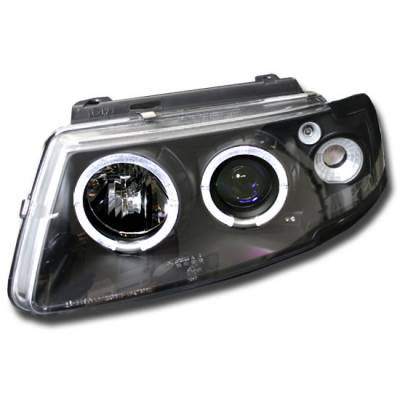 Headlights & Tail Lights - Headlights - Custom - PASSAT TWIN HALO PROJECTOR HEADLIGHTS PAIR