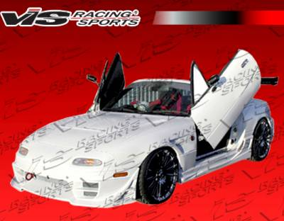 Miata - Side Skirts - VIS Racing - Mazda Miata VIS Racing Wave Side Skirts - 90MZMX52DWAV-004