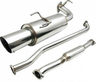 Exhaust - Custom Fit Exhaust - 4 Car Option - Toyota Corolla 4 Car Option Cat-Back Exhaust System with Stainless Steel Tip - MUX-TCL93