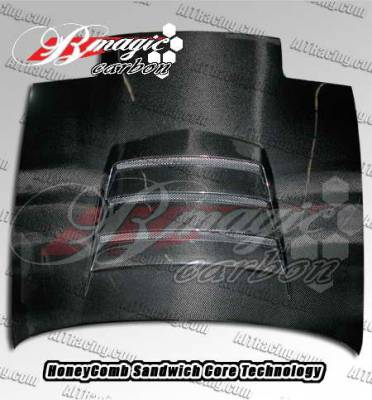 240SX - Hoods - AIT Racing - Nissan 240SX AIT Racing Battle Style Carbon Fiber Hood - N24089BMBTLCFH