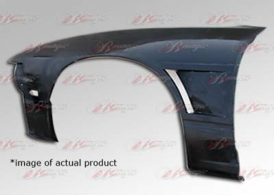 240SX - Fenders - AIT Racing - Nissan 240SX AIT Racing D1 Style Front Fenders - N24089BMD1SF3